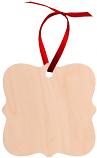 "Unisub 2.95"" x 2.95"" Maple Creative Border Ornament Prague 1 Sided Natural Wood"