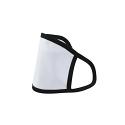 Printable Sublimation Large Face Mask, Black Edge (Pack of 10)