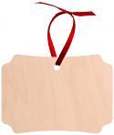 "Unisub 3.95"" x 2.74"" Maple Creative Border Ornament Berlin 1 Sided Natural Wood"