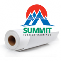 "Summit Self-Adhesive Poly Banner Gloss Film 24""x100' 8mil"