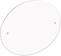 """Unisub 3.5"""" x 5"""" FRP Door Sign Oval with Pre Drilled Holes"""