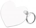 "Unisub 2.5"" x 2.25"" FRP Key Chain Heart 2 Sided"
