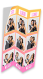 DNP 6x8 Triple Strip Sticker Media for use with DS620A