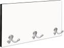 Unisub Coat Hanger with 3 Silver Hooks, Black Edge