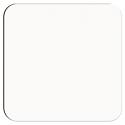 "Unisub 3.75"" Square Gloss White Hardboard Coaster with Cork Back"