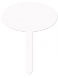 """Unisub 7.75"""" x 10"""" Aluminum Oval Yard Sign with Stake"""