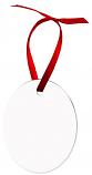 "Unisub 2.35"" x 3"" Aluminum Oval Ornament 2 Sided"