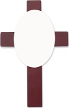 "Unisub 7 x 11"" Wood & Hardboard Mahogany Cross Plaque with Insert for 5726"