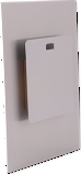 """ChromaLuxe Aluminum 5"""" x 5"""" Hanger with Spacer Block for Photo Panels 10 Pieces"""