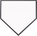 "Unisub 10"" x 10"" MDF Large Homeplate Plaque"